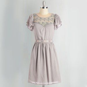 *modcloth* moon Indie Darling Dress in Taupe small